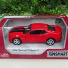 "Kinsmart (5"") Die cast  Car 2014 Chevrolet Camaro w/ printing Red Sports Car (1/38)"