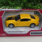 "Kinsmart (5"") Die cast  Car 2014 Chevrolet Camaro w/ printing Yellow Sports Car (1/38)"