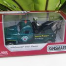"Kinsmart (5"") Die cast  Car 1953 Chevrolet 3100 Wrecker Tow Truck Green (1/38)"