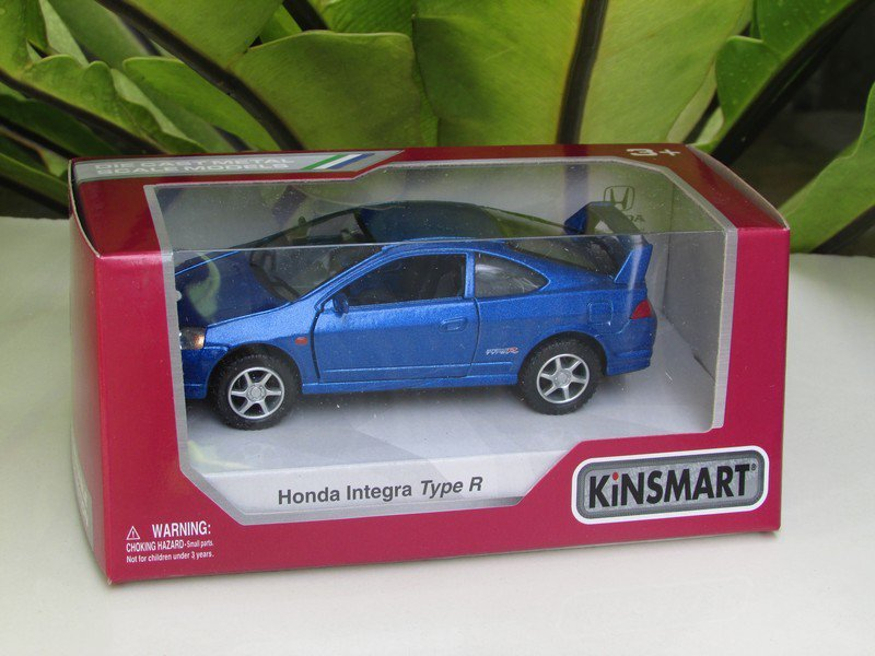 "Kinsmart (5"") Die cast  Car Honda Integra DC5 Type R 2002 Super Car Blue (1/34)"