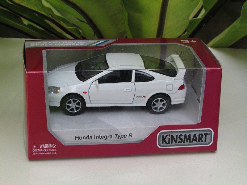 "Kinsmart (5"") Die cast  Car Honda Integra DC5 Type R 2002 Super Car White (1/34)"
