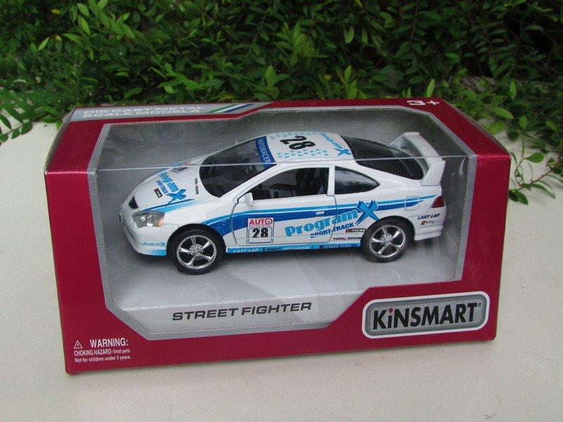 """Kinsmart (5"""")Street Fighter Die cast Car Honda Integra DC5 Type R White 2002"""