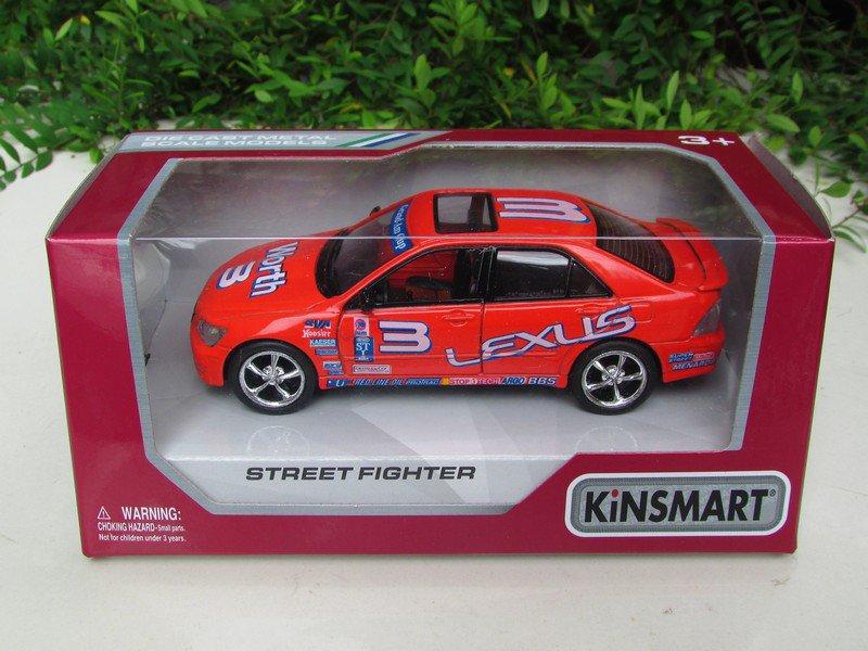 "Kinsmart (5"")Street Fighter Die cast Car Toyota Altezza / Lexus IS200 Orange 2002"