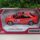 "Kinsmart (5"")Street Fighter Die cast Car Toyota Altezza / Lexus IS200 Orange 2002"