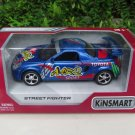 "Kinsmart (5"")Street Fighter Die cast Car Toyota MR2 Blue Sports Car 2002"