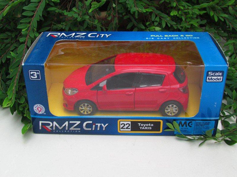 "RMZ / DSM 5"" Die cast Model Car #22 Toyota Yaris 2013 (Red)"