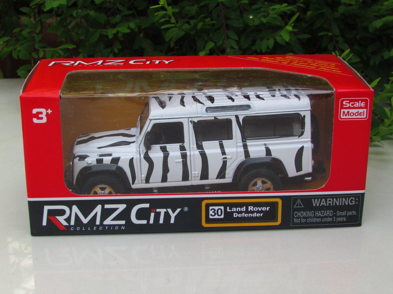 """RMZ DSM 5"""" Die cast Model #30 Land Rover Defender Zebra White"""
