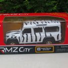 "RMZ DSM 5"" Die cast Model #30 Land Rover Defender Zebra White"