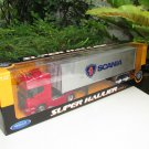 Welly 1/32 SUPER HAULIER SCANIA Truck V8 R370 (4X2) Container Trader Trucks Red