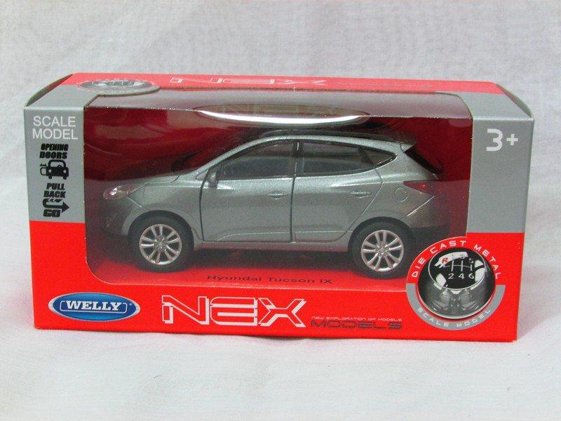 Welly NEX (11 cm) Die cast Model Car Hyundai IX35 Tucson SUV 2013 (Grey) 1-38