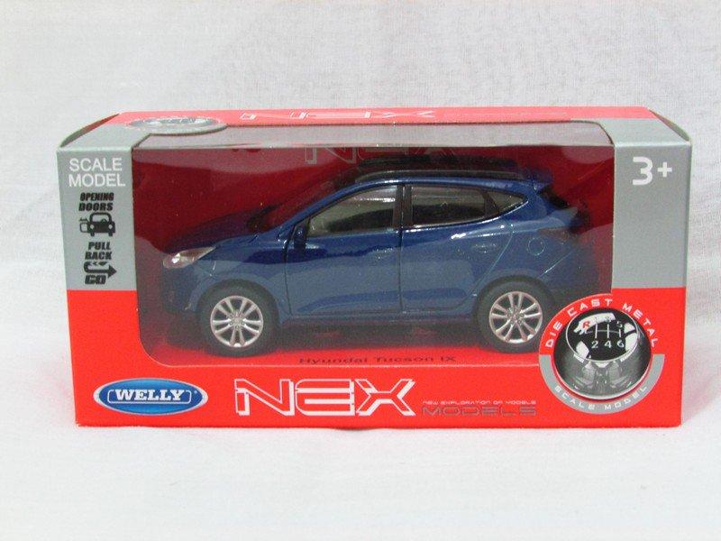Welly NEX (11 cm) Die cast Model Car Hyundai IX35 Tucson SUV 2013 (Blue) 1-38
