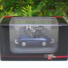 High Speed 1/87 Diecast Model Car Porsche 356B 1959 Cabrio BLUE Classic Car