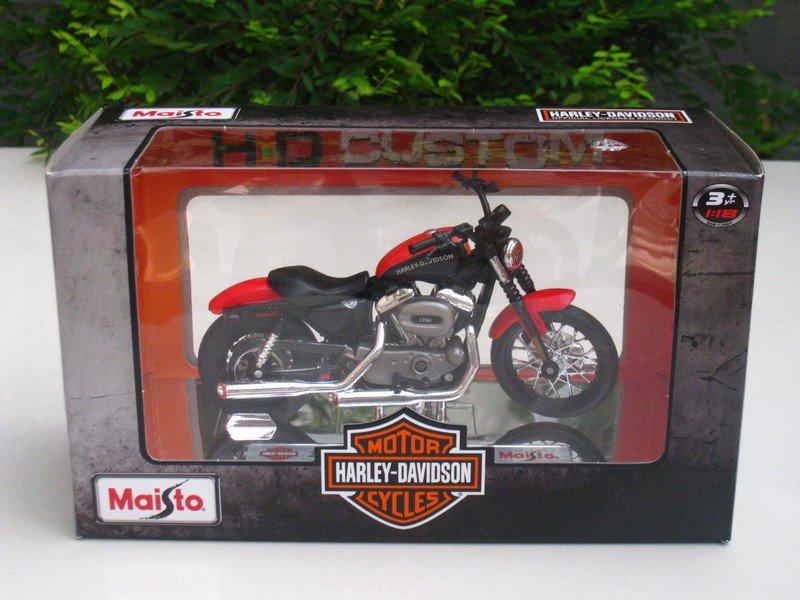 Maisto 1/18 Diecast Motorcycles Harley-Davidson 2007 XL 1200N Nightster Red