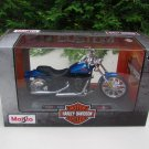 Maisto 1/18 Diecast Motorcycles Harley-Davidson 2002 FXSTB Night Train Blue