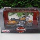 Maisto 1/18 Diecast Motorcycles Harley-Davidson 1999 FLHR Road King Gold