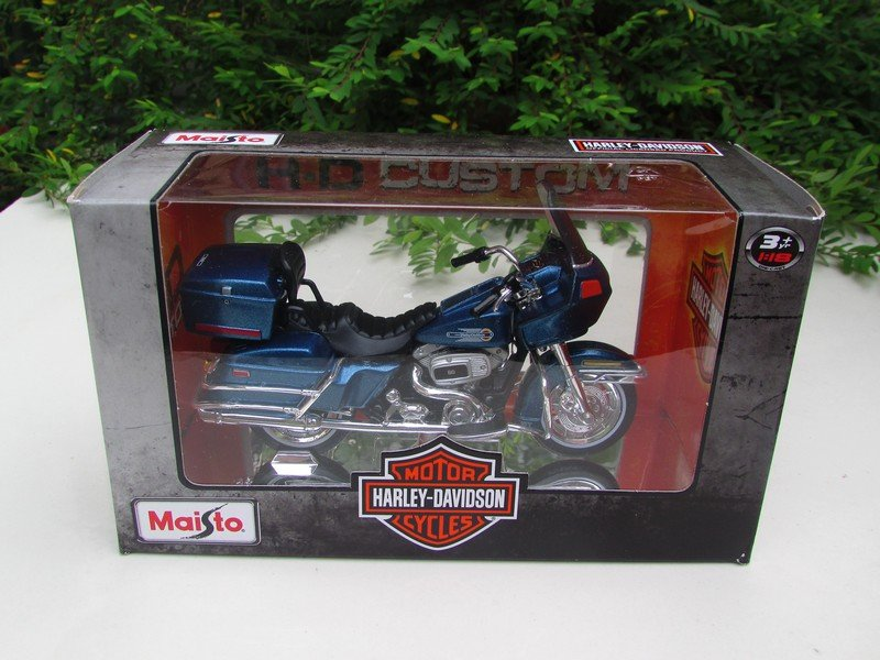 Maisto 1/18 Diecast Motorcycles Harley-Davidson 1980 FLT Tour Glide Blue