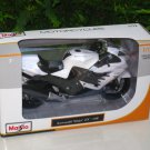 Maisto 1/12 Diecast Motorcycle Kawasaki Ninja ZX-14R 2012 White Sports Bike