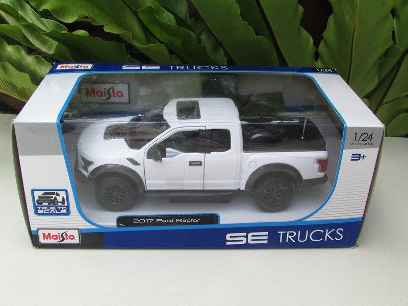 Maisto 1/24 Diecast Car Special Edition 2017 Ford F150 Raptor Pickup Truck (W)