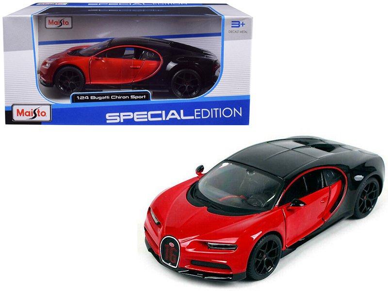 Maisto 1/24 Special Edition Diecast Car 2016 Bugatti Chiron Red Sport Car
