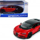 Maisto 1/24 Special Edition Diecast Car 2016 Bugatti Chiron Red Sport Car