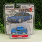 JADA 1/64 Diecast Car JDM Tuners 1973 DATSUN 510 -WIDEBODY- Blue (8cm) Japan Car