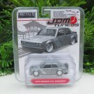 JADA 1/64 Diecast Car JDM Tuners 1973 DATSUN 510 -WIDEBODY- Grey (8cm) Japan Car