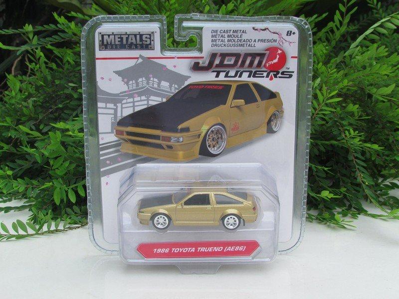 JADA 1/64 Diecast Car JDM Tuners 1986 TOYOTA Corolla Trueno (AE86) 8cm Japan Car