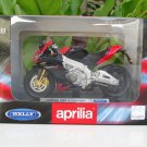 Welly 1/18 Diecast Motorcycle APRILIA RSV4 FACTORY 2010 Sportbikes (Black Red)