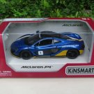 "Kinsmart (5"") 1/36 Diecast Car McLaren P1 With Printing Blue Sports Car 2015"