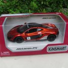 "Kinsmart (5"") 1/36 Diecast Car McLaren P1 With Printing Orange Sports Car 2015"