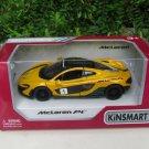 """Kinsmart (5"""") 1/36 Diecast Car McLaren P1 With Printing Yellow Sports Car 2015"""