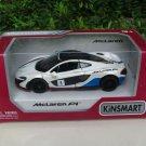 "Kinsmart (5"") 1/36 Diecast Car McLaren P1 With Printing White Sports Car 2015"