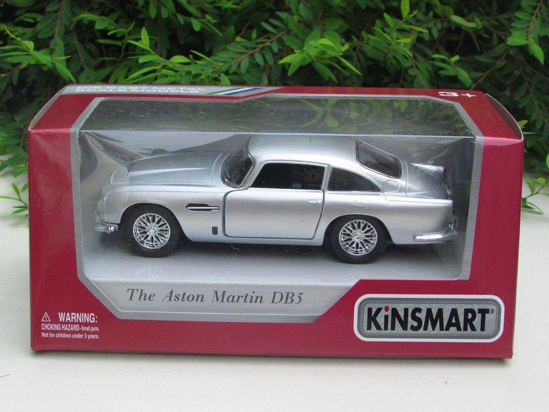 "Kinsmart (5"") Diecast Car Aston Martin DB5 (1964) Silver Classics Car (1/38)"