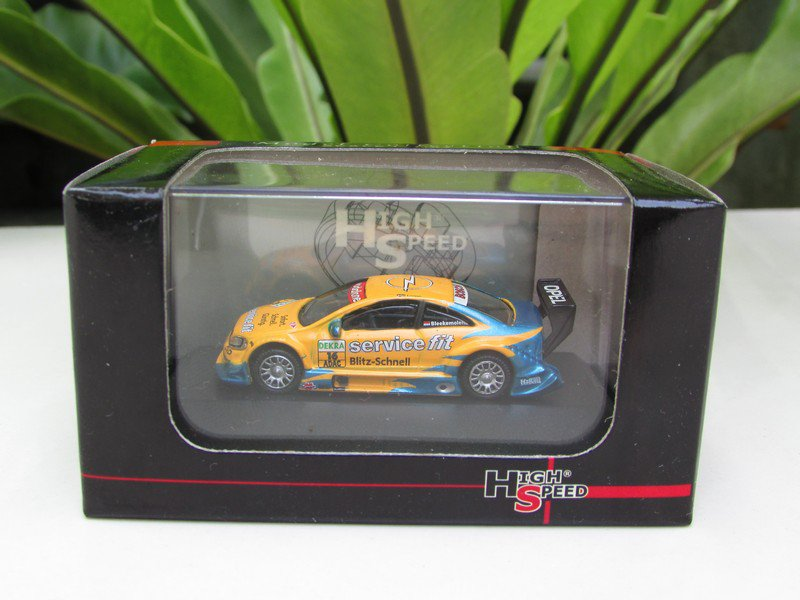 High Speed 1/87 Diecast Car OPEL ASTRA V8 COUPE DTM 2003 Euroteam # 16 Service Fit  (5cm)