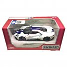 "Kinsmart (5"") Die cast  Model Car 2017 Ford GT White (1-38) Blue Stripe Super Car"