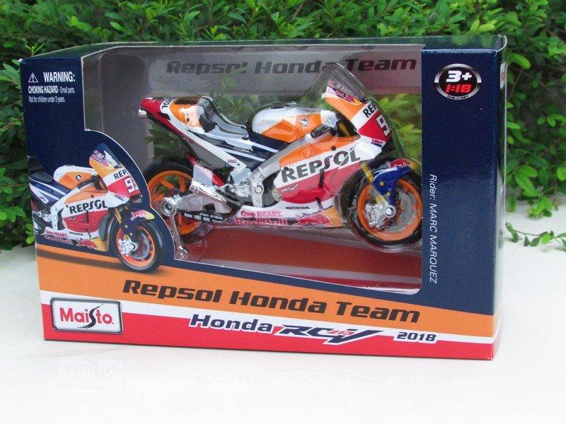 Maisto 1/18 Motorcycles MOTOGP 2018 Honda Repsol Team RC213V # 93 Marc Marquez