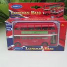 Welly (12cm) Diecast Model Double Decker Bus London Red Vintage Bus (Pull Back)