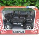 """Kinsmart (5"""") Diecast Monster Truck 2008 Hummer H2 Sun 4x4 Trucks Black (1/40)"""