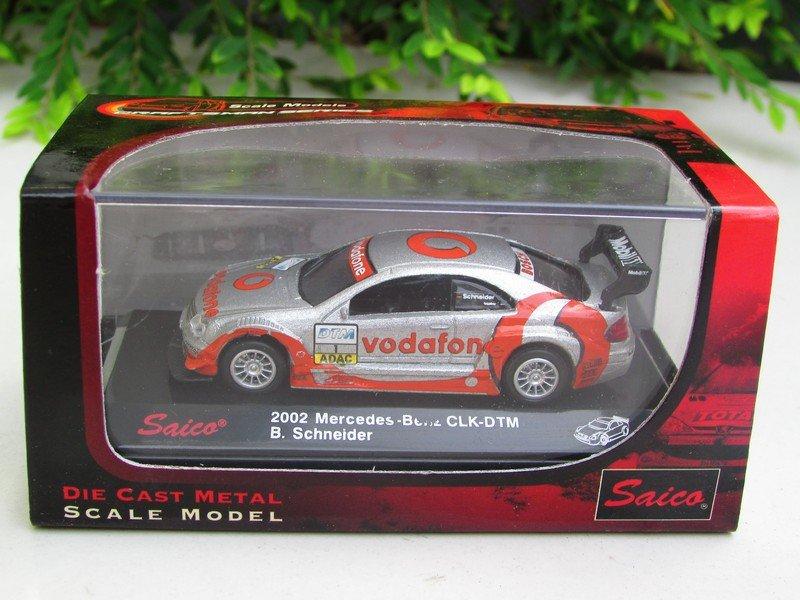 Saico 1/72 Diecast Car Model 2002 Mercedes Benz CLK DTM Team Vodafon # 1 B.Schneider (6cm)