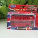 Welly (12cm) Double Decker Bus London London Sight Seeing Bus Red Vintage Bus (Pull Back)
