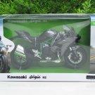 Automaxx 1/12 Diecast Motorcycle Kawasaki Ninja H2 Green Super Bike 2015