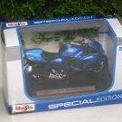 Maisto 1/18 Special Edition Diecast Motorcycle Kawasaki Ninja ZX-14R Blue 2012