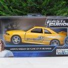 JADA 1/32 Movie Car Fast & Furious LEONS Nissan Skyline GT-R (R33) Yellow 1995