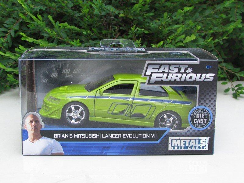 JADA 1/32 Movie Car Fast & Furious BRIAN'S MITSUBISHI LANCER EVO VII 2002 Green