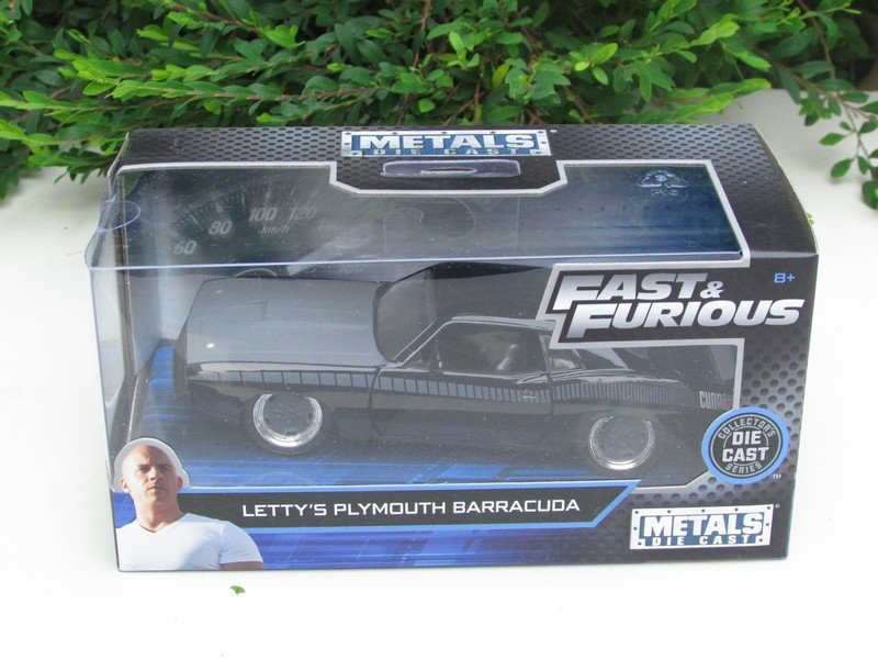 JADA 1/32 Diecast Movie Car Fast & Furious Letty's PLYMOUTH BARRACUDA 1970