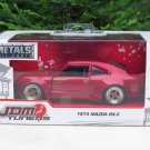 JADA 1/32 Diecast Car JDM Tuners 1974 MAZDA Savanna GT Coupe Mazda RX-3 Red