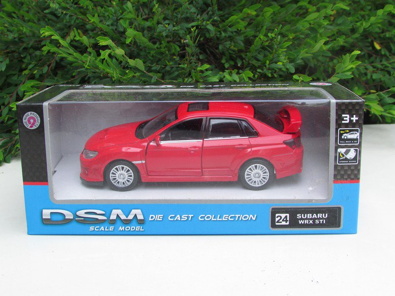 "RMZ DSM  (5"") Diecast Model Car #24 Subaru WRX STi RED"