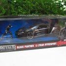 JADA 1/24 Diecast MERVEL AVENGERS Lykan Hypersport & Black Panther Figure