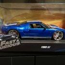 JADA 1/24 Car Fast & Furious 1969 FORD GT40 BLUE w/ WHITE STRIPES