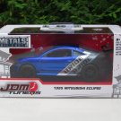 JADA 1/32 Diecast Car JDM Tuners 1995 MITSUBISHI ECLIPSE Blue Japan Sport Car
